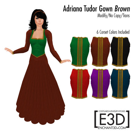 Adriana Tudor Gown Brown