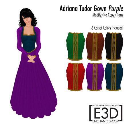 Adriana Tudor Gown Purple