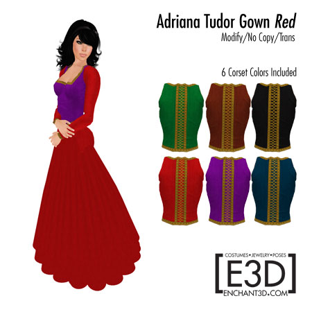 Adriana Tudor Gown Red