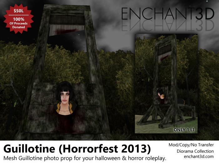 Enchant3D Horrorfest Guillotine