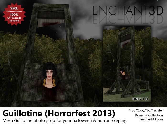 Enchant3D Horrorfest Guillotine