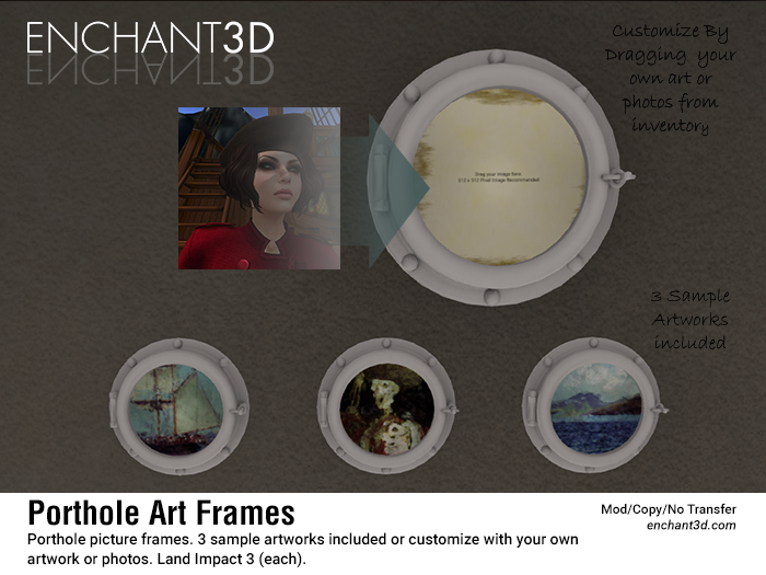 Enchant3D - Porthole Art Frame