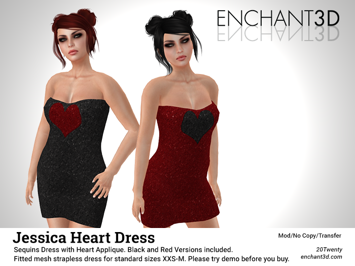 Enchant3D - Jessica Heart Dress